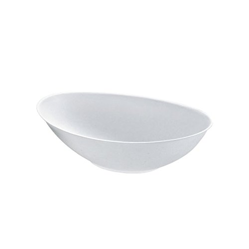 Bio 'n' Chic Oval Sugarcane Bowl (Case of 250), PacknWood - Compostable and Biodegradable Salad Bowls (24 oz, 8.6