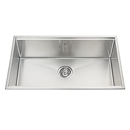"Kindred 31.5"" Stainless Steel Single Bowl Kitchen Sink, 18 Gauge, Designer Series Topmount"