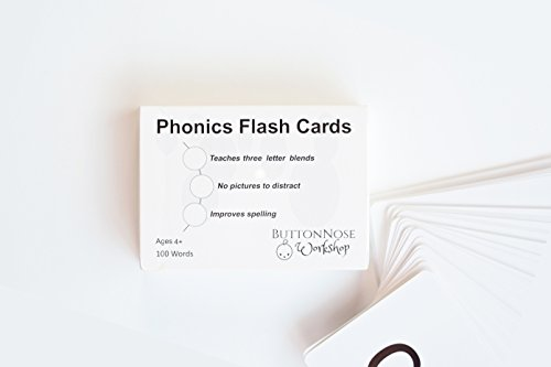 (Phonics Flash Cards - Level 1 Introduction to Reading - Three letter words - Preschool flash cards - Early Reading for Montessori parents, homeschoolers, teachers, of pre-K and kindergarten children)