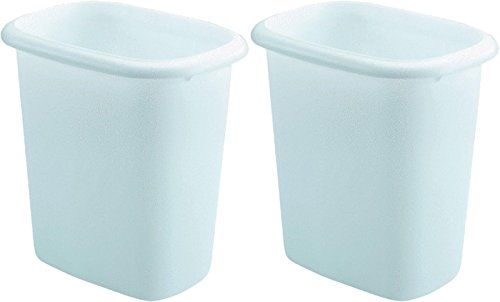 Rubbermaid Vanity Wastebasket,6-quart, 2 pack, White (Plastic Wastebasket Vanity)