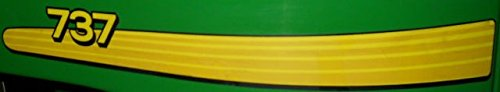 John Deere Ztrack 737 side Decal kit TCU16908 TCU16909