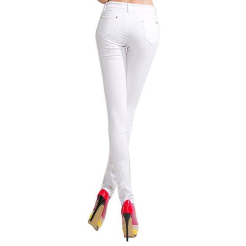 Femme Hee Jeans Slim Blanc Grand q1tc1Wan