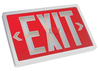 Self Luminous Tritium Exit Sign 10 Year Model - No Electricity -Code Compliant