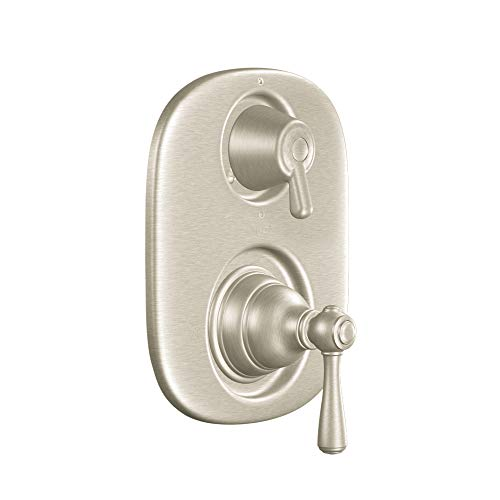 Moen T4111BN Kingsley Moentrol Tub/Shower Transfer Valve Trim Kit without Valve, Brushed Nickel