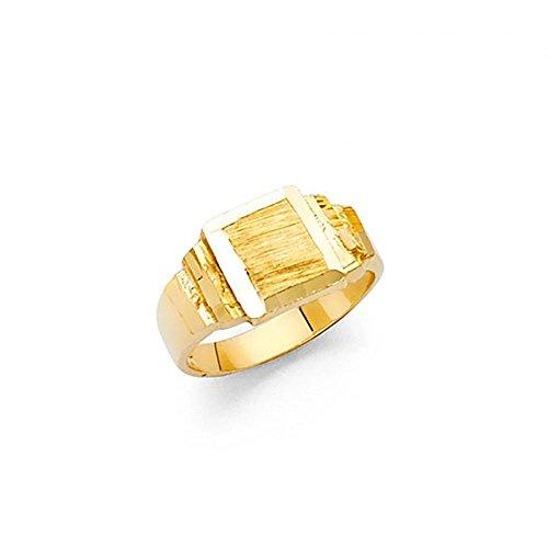 Boy Signet Ring (14k Gold Baby Signet Ring)