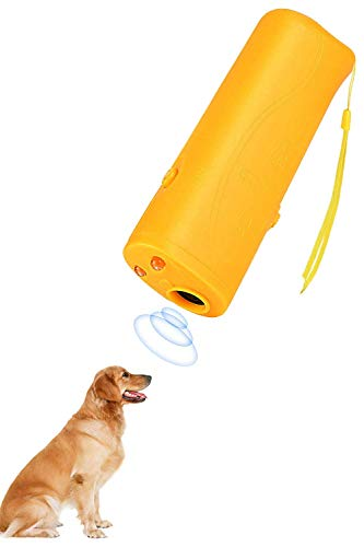 Lybrist [Upgraded Version] Led 3 in 1 Anti Barking Device Stop Bark Ultrasonic Pet Dog & Cat Repeller and Dog Training Device Trainer
