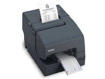 Epson C31CB25024 TM-H6000IV Multifunction Printer, 9 Pin, MICR and Endorsement, Serial and USB Interfaces, Without PS-180, Dark Gray by Epson