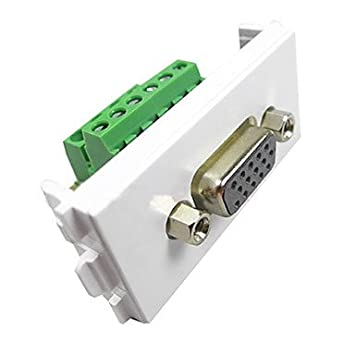 zcl ly-link 084 vga wall socket and panel with wiring: amazon co uk:  electronics