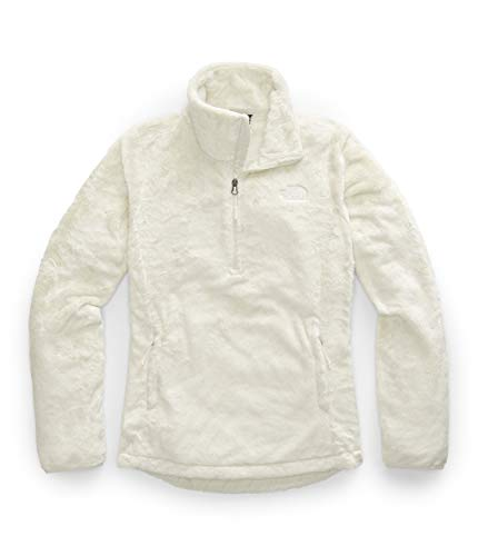 The North Face Women's Osito Quarter Zip Pullover, Vintage White, M (Womens North Face Fleeces)