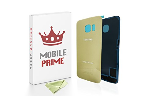 MobilePrime Gold Replacement Back Glass Back Cover Compatible for Samsung Galaxy S6 Edge