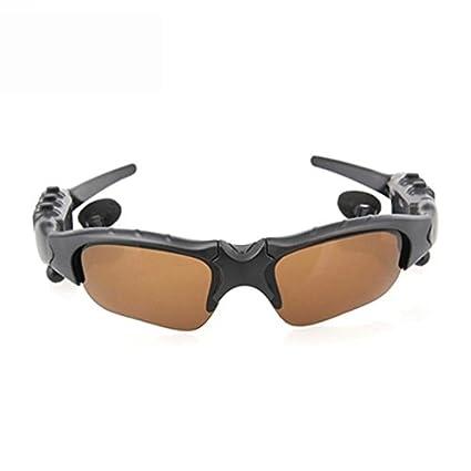 Occhiali da sole wireless, Hongtianyuan occhiali da sole Bluetooth Cuffie con auricolare vivavoce per iPhone 7/7 più dispositivi Samsung Bluetooth (Grigio)