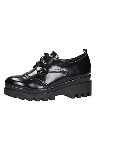 Mujer Negro Brigitte Cordones BVL51 de Zapatos zzISwX