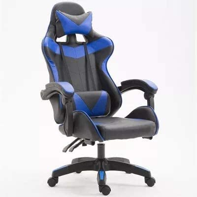 Computer Chair, Gaming Chair for Kids Gaming Chair Computer Chair Game Seat Internet Cafe Competitive Office Home Recliner Adjustable Chair No Footrest