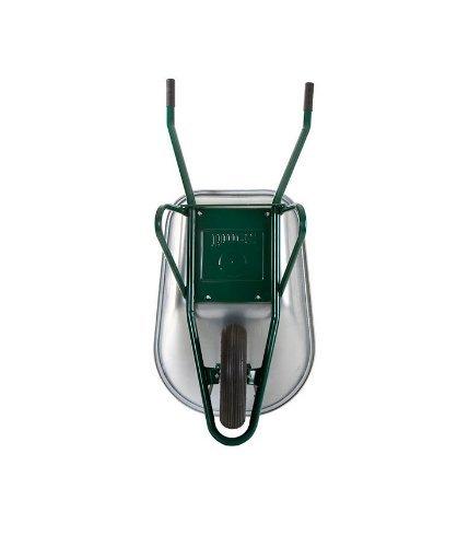 2x Profi Schubkarre Bauschubkarre grün 100l Liter mit Bodenplatte ***NEU***