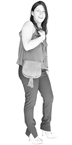 histoireDaccessoires - Bolso con Bandolera de Cuero de Mujer - SA099114F-OE-Angelo BeigeBeige