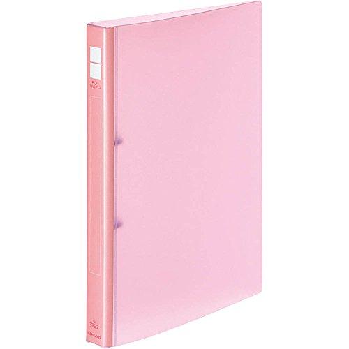 Kokuyo pop ring file A4 vertical 2 hole pink off -P420P
