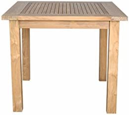 Anderson Teak Windsor Square Table with Small Slats, 35