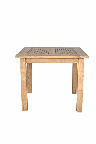 Anderson Teak Bahama Square Table with Small Slats, 35-Inch price