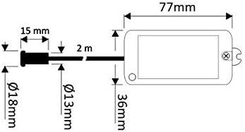 SWITCH SENSORE IR AD INFRAROSSI MAX 35 MM 230 V AC MAX 500 W