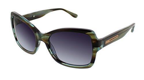 BCBGMaxazria Women's Impress Rectangular Sunglasses, Teal Horn, 44.8 - Bcbgmaxazria Sunglasses