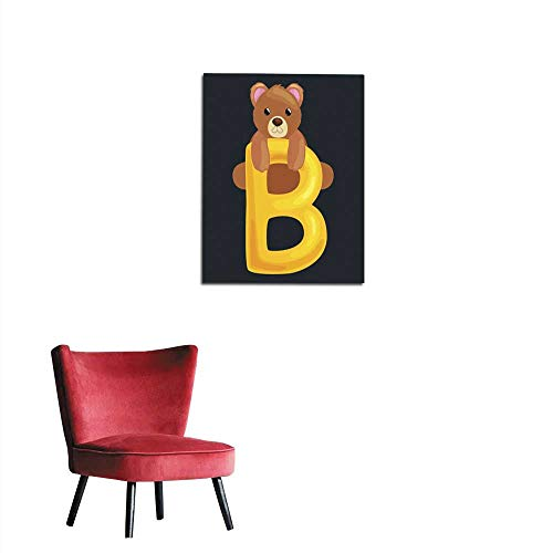 longbuyer Corridor/Indoor/Living Room Bear Letter with Animal for Kids ABC Education in Preschool Mural 20