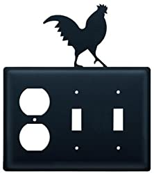 Eoss-1 Rooster Single Outlet Double Switch Electric Cover