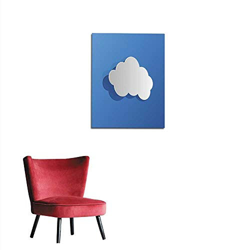 "longbuyer Photo Wall Paper Cut Out Cloud Blue Paper Mural 24""x32"""