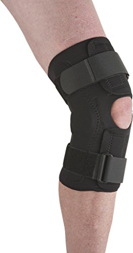 Ossur Neoprene Wraparound Knee Support - Dual Hinged Stabilizer - Athletic Compression Wrap for Running, Sports Injury Recovery or Arthritis Joint Problems (X-Large)