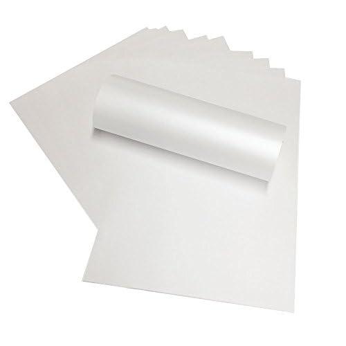 100feuilles de papier A4Frost Blanc nacré Shimmer papier double face 120g/m² pour imprimantes jet d'encre et laser (Pia4–5)