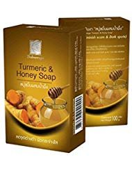BeautyBreeze Turmeric & Honey Natural Herbal Soap, Diminish Scars & Dark Spots 100g