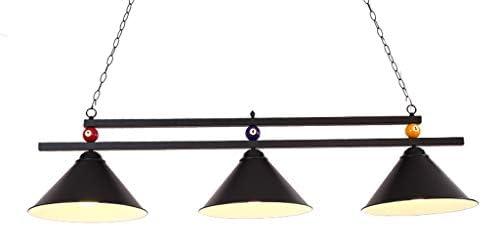 FuManLi Diseño de la bola de metal Tabla lámpara de la piscina de billar Luz Black: Amazon.es: Hogar