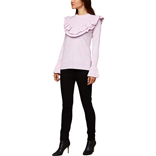 Juicy Couture Womens Cashmere Ruffle Pullover Sweater Pink S