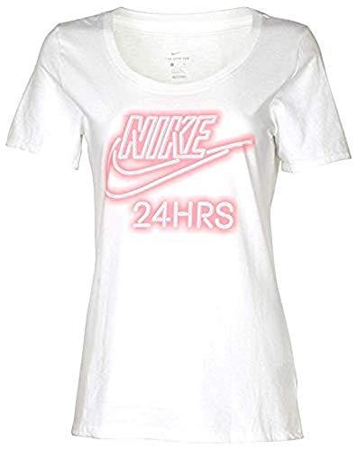 (Nike Women's Scoop Neck T-Shirt Athletic Cut (Medium, Purple/Black))