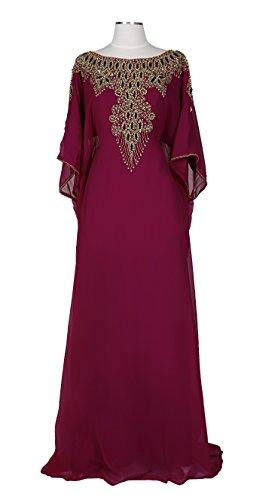 Covered Bliss Aceil Kaftan For Women-Long Sleeve Maxi Dress, Gown Formal Lounge Wear - Sale Www.debenhams