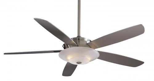 """Minka-Aire F598-BN, Airus, 54"""" Ceiling Fan with Light, Brushed Nickel"""