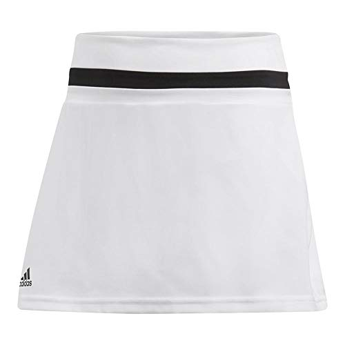 adidas Youth Girls Tennis Club Skirt, White, -