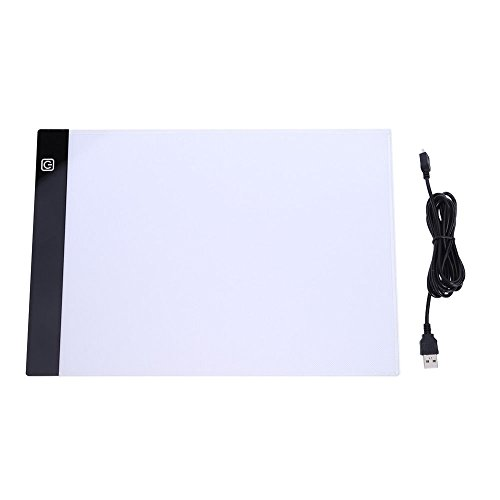 A4 LED Light Box Drawing Board - BESTGIFT Tracing Board USB Power Ultra-Thin Digital Tablet Brightness Adjustable Pad Copy Table for Artist by BESTT (Image #5)'