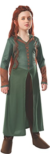 [The Hobbit: Desolation of Smaug, Child Tauriel Costume, Medium - Medium One Color] (Lotr Elves Costumes)