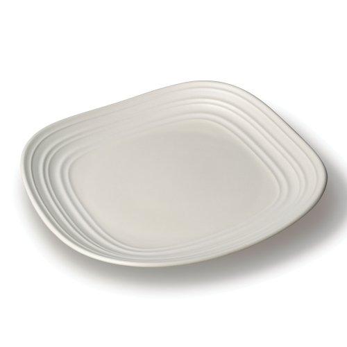 Ironstone Dessert - Mikasa Swirl White Square Salad Plate, 8.75-Inch