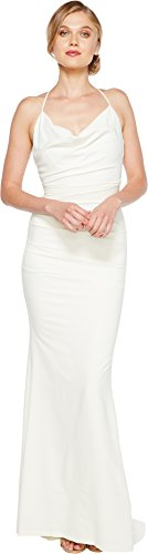 Nicole Miller Women's Tara Bridal Gown Antique White 0