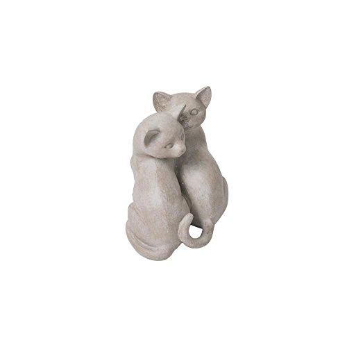 Escultura Decorativa Casal de Gatos