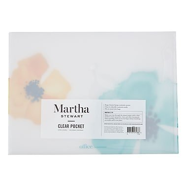 Martha Stewart Clear Pocket, Letter Size, Blue (44914)