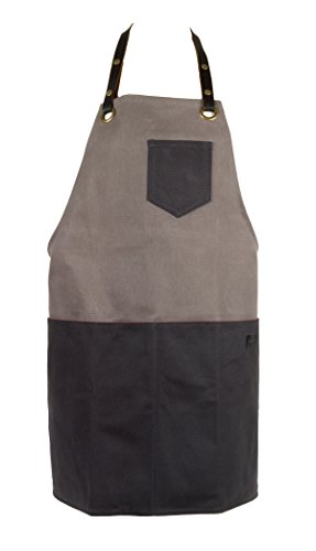 Waxed Cotton Canvas Shop Apron for Chefs, Baristas, Bike or Ski Mechanics, Woodworkers | the Edison Everyday Apron by FAT FELT by FAT FELT