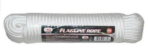80' Flagpole Rope Line White Poly Braided Flag Pole 1/4