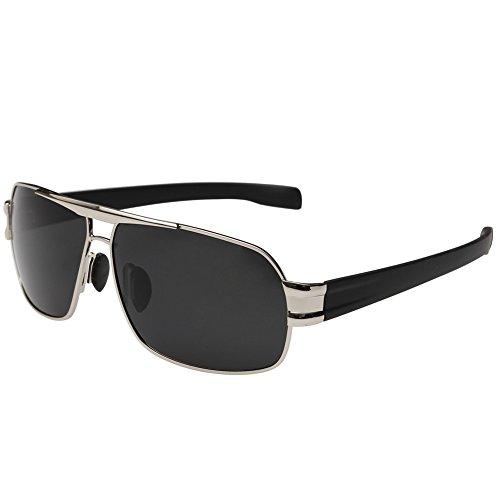 Joopin-Polarized Sunglasses Men Polaroid Driving Sun Glasses Mens Sunglass (Silver - Sunglasses Discount Wholesale