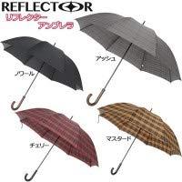 こちらの商品は【 ノワール 】のみです。 反射糸を織り込んだ撥水生地を使用した傘です。 mabu リフレクター アンブレラ MBU-RU 〈簡易梱包 B07RMV73HQ