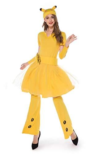 Women Costume Holiday Sexy Yellow Dress Adult