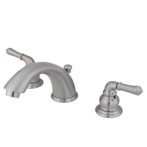 Kingston Brass KB968 Magellan II Widespread Lavatory Faucet 8-Inch to 16-Inch Centers, Brushed ()