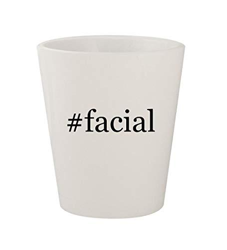 #facial - Ceramic White Hashtag 1.5oz Shot Glass
