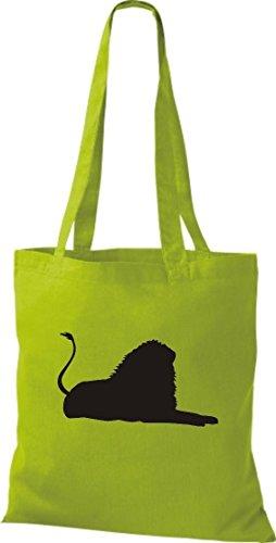 De Lima Krokodil Amarillo Tela Mujer Verde Algodón Bolso Para 5x1xvqFR